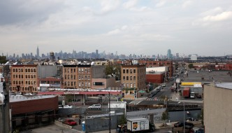 In Bushwick, warehouses abut apartment buildings.  Image via Real Estate Weekly.