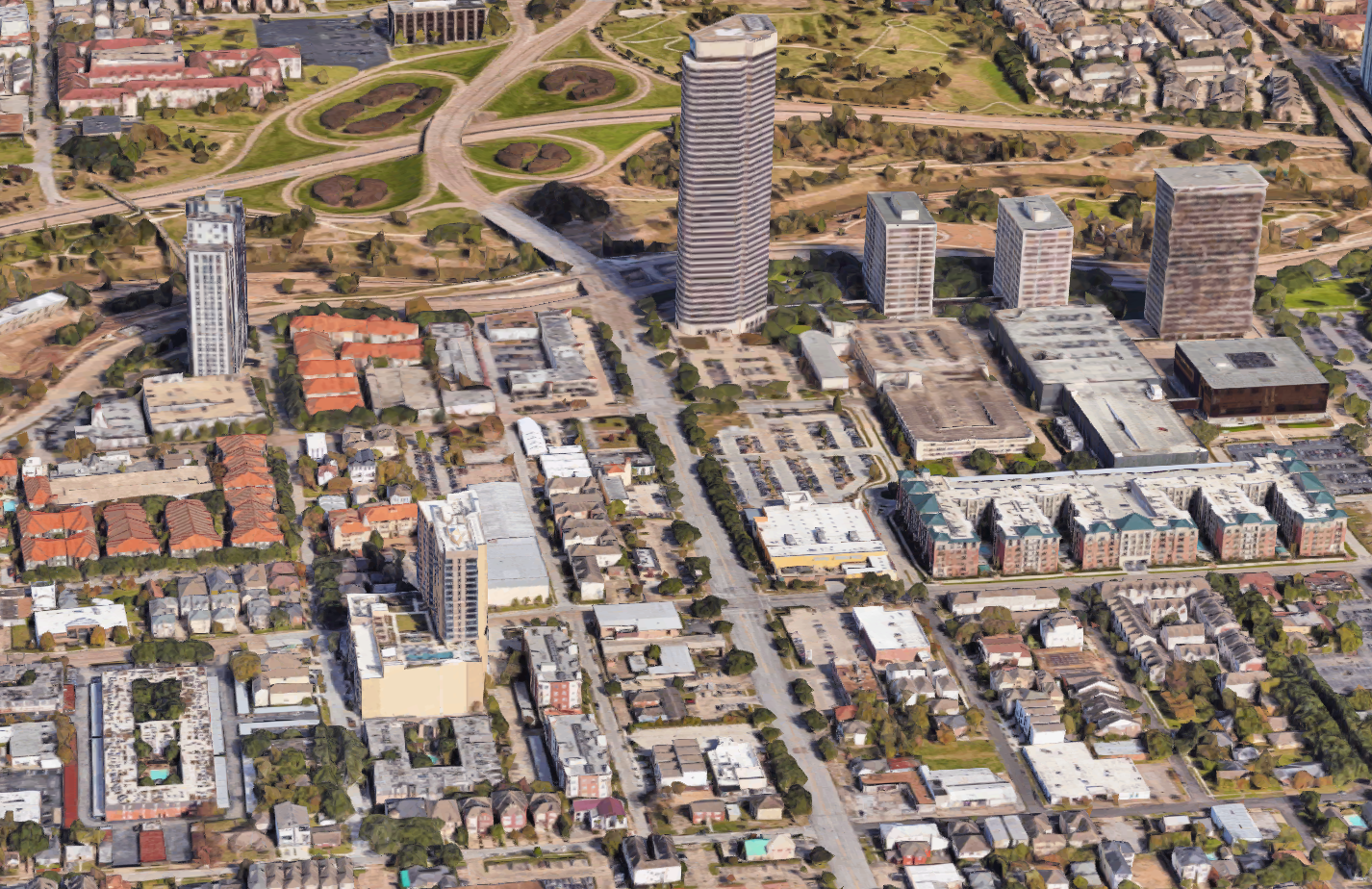 A dense, diverse neighborhood in Houston