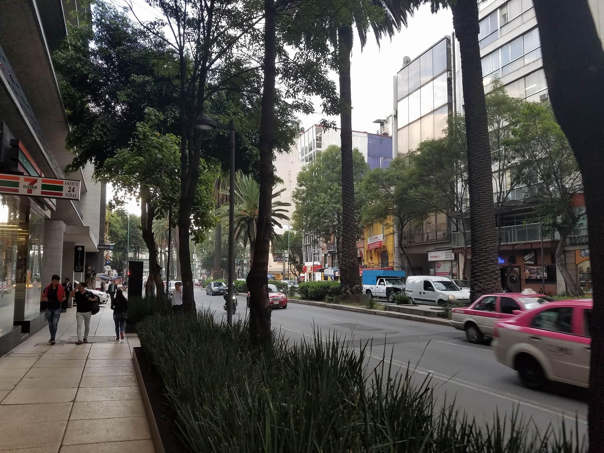 Mixed-use street in Mexico City.