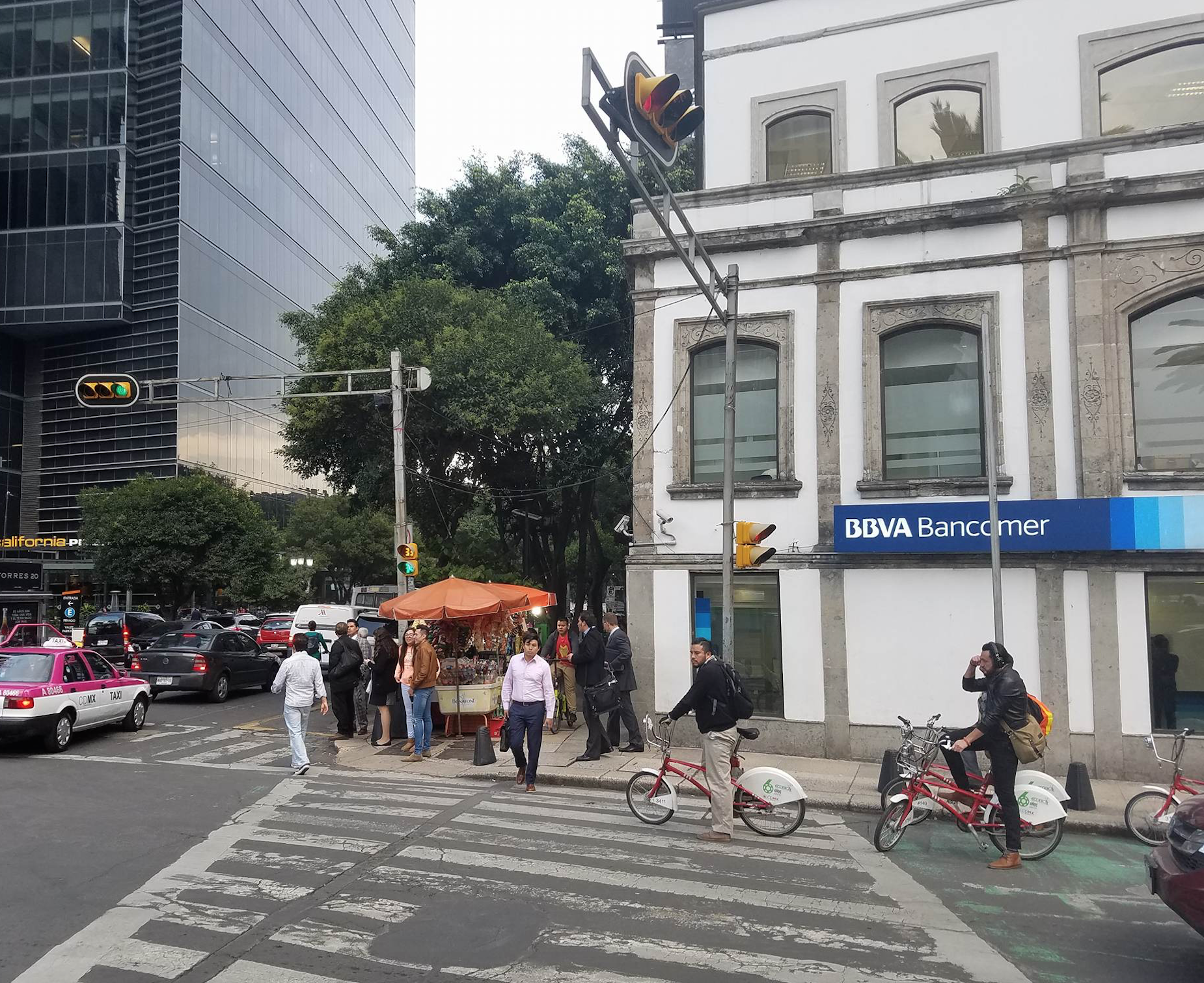 Street life in Mexico City.