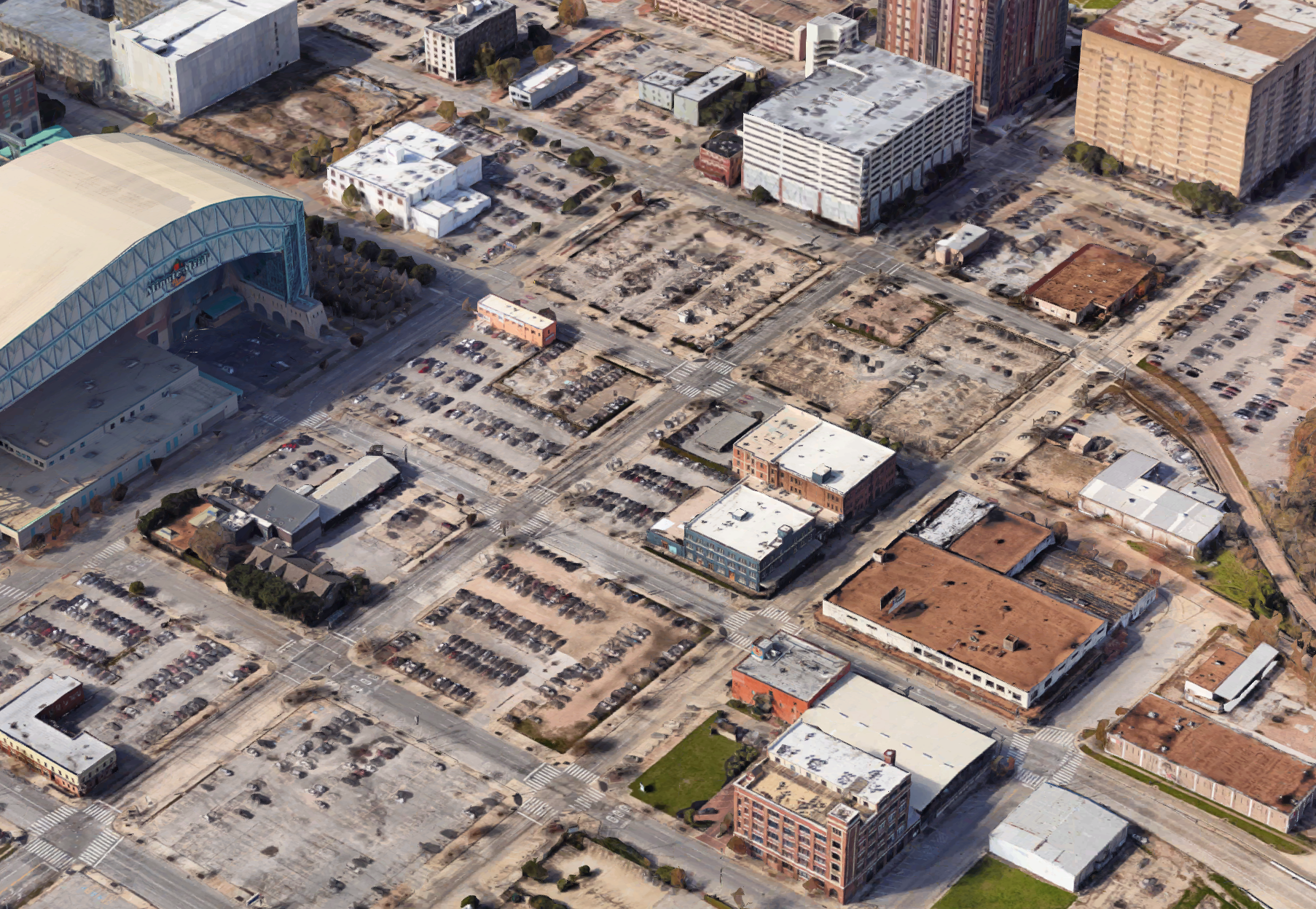 A parking desert outside of the Minute Maid Park.