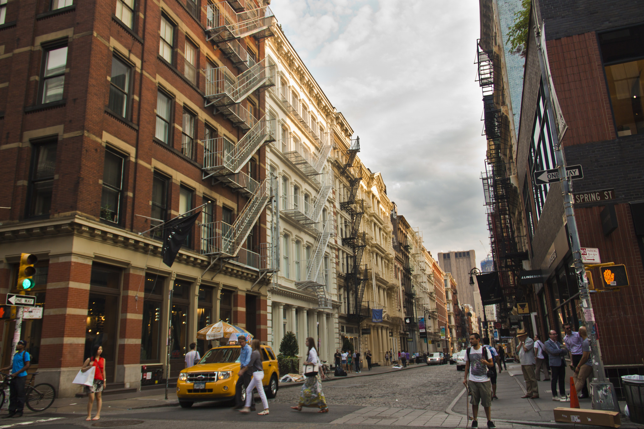 Once factories and brothels, today Greene Street is home to upscale retail.